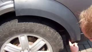 getlinkyoutube.com-How to remove wheel arches on a Land Rover Discovery 3 LR3