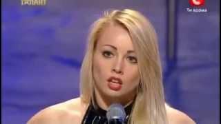 getlinkyoutube.com-Ukraine's Got Talent - Anastasia Sokolova - Pole Dance (First Representation)