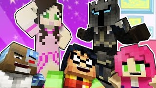 getlinkyoutube.com-Minecraft PopularMMOs and Gaming With Jen Reacting To Teen Titans GO Prank! Trolling Challenge!