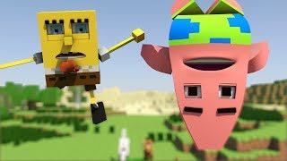 "getlinkyoutube.com-""Spongebob in Minecraft 2"" - Animation"
