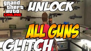 "getlinkyoutube.com-GTA 5 Glitch - *NEW* ""UNLOCK ALL GUNS ONLINE"" SOLO GTA 5 Gltiches 1.15 GTA V"