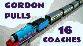 getlinkyoutube.com-Trackmaster Thomas The Train GORDON pulls 16 EXPRESS COACHES Kids Toy Train Set