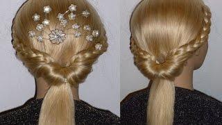 getlinkyoutube.com-SCHNELLE und Easy Frisuren.Zopffrisur.Schulfrisur.Ausgehfrisur.Braided Updo Hairstyle.Peinados