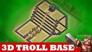 "getlinkyoutube.com-Clash Of Clans | INCREDIBLE 3D TROLL BASE! A MUST WATCH! | ""THE KINGS THRONE"""