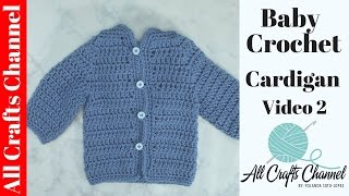 getlinkyoutube.com-Easy to crochet baby cardigan (video 2) /  baby sweater  chambrita en crochet