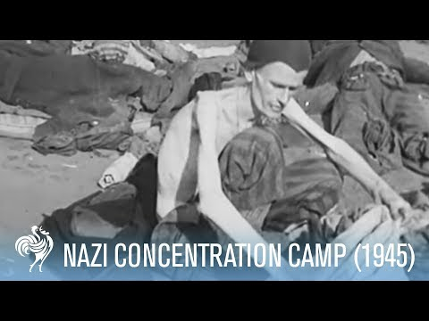 Britain told about the Holocaust (1945) - WARNING: Distressing Images