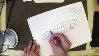 getlinkyoutube.com-Car design crash course: How to sketch a car in side view with pen & paper