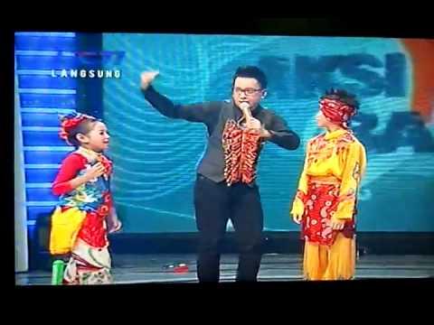 Edgar Jaipong dance with Nabila @ Aksi Anak Bangsa 3rd Result Show 21-11-2010