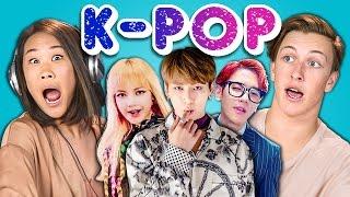getlinkyoutube.com-Teens React to K-Pop (BTS - Blood, Sweat & Tears, BLACKPINK, EXO-CBX)