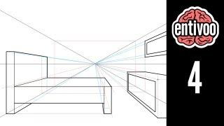 getlinkyoutube.com-Dibuja un cuarto usando perspectiva a un punto de fuga