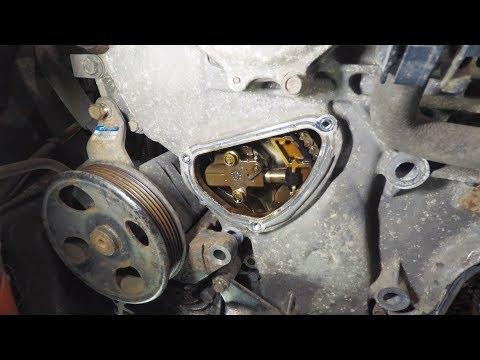 Замена оригинал роликов, помпы, ремней Infiniti FX35 Установка новой помпы и натяжителя цепи