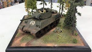 "Building theTamiya 1/35  M10 diorama "" Firing Position "" using the new kit 35350"