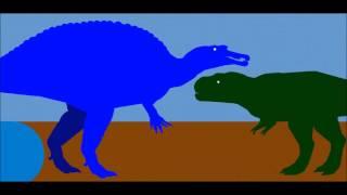 getlinkyoutube.com-PDW Spinosaurus vs T rex remake