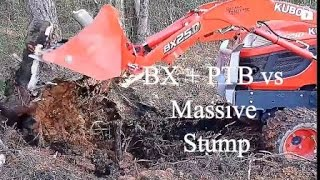 getlinkyoutube.com-Stump Removal with BX25D