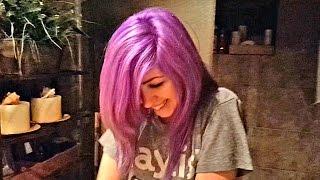 getlinkyoutube.com-Color Changing Hair! Is it Blue, Purple, Violet, or Pink?