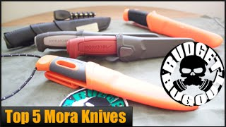 getlinkyoutube.com-Top 5 Best Mora Knives | Budget Survival & Bushcraft Fixed Blade Knives