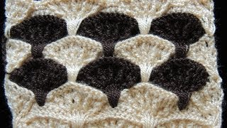 getlinkyoutube.com-Crochet : Punto Abanico en Relieve.  Parte 1 de 3