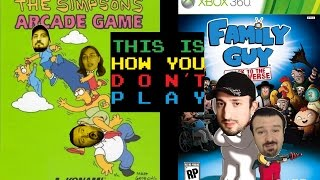 getlinkyoutube.com-This Is How You DON'T Play Double Feature: Simpsons Arcade and Family Guy BTTM (Rambo & Joe Co-op)