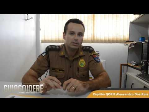 Capitão Alessandro dos Reis. Comandante da 2ªCIA. fala sobre sua transferencia para Londrina