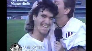 getlinkyoutube.com-Ariel Ortega en VideoMatch 1998 Verona vs Sampdoria FUTBOL RETRO