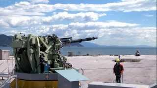 getlinkyoutube.com-127/64 LW Vulcano naval gun system Oto Melara