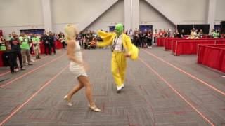 getlinkyoutube.com-The Mask Cosplayers Dancing at Montreal Comiccon 2016