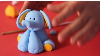 getlinkyoutube.com-Tatlı Bir Dakika - Şeker hamuru ile Fil modelleme