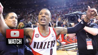 getlinkyoutube.com-Damian Lillard Full Highlights vs Rockets 2014 Playoffs West R1G6 - 25 Pts, AMAZING Game-Winner!