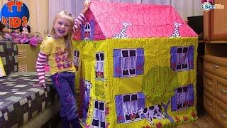 getlinkyoutube.com-Игровой ДОМИК Распаковка Детского Домика с Ярославой Игрушки для детей Children House Unboxing