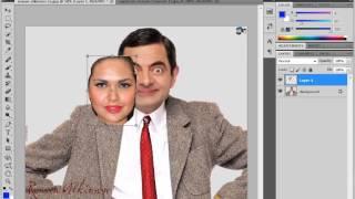 getlinkyoutube.com-how to change / replace face in adobe Photoshop cs5 cs4 cs6 cs3 7.0 and all
