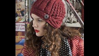 getlinkyoutube.com-Шапочка-шлем из журнала Vogue Knitting. Часть 1