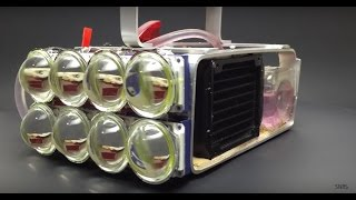 getlinkyoutube.com-Water Cooled 72,000 Lumen LED Flashlight!!
