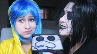 getlinkyoutube.com-maquillaje y disfraz para halloween de Coraline