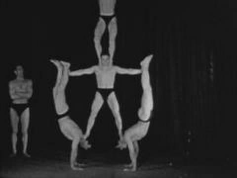 Five male acrobats (1934)
