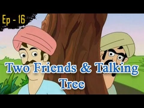 The Two Friends & A Talking Tree | Panchatantra Tales | English Animated Stories For Kids