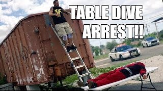 getlinkyoutube.com-ARRESTED FOR WRESTLING! MJ APPLEBALLS goes to JAIL and THROUGH A TABLE!!