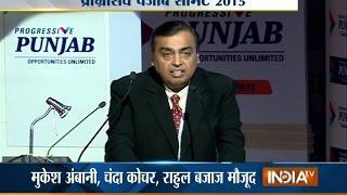 getlinkyoutube.com-Mukesh Ambani LIVE at Progressive Punjab Investors Summit - India TV