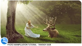 getlinkyoutube.com-Making Dramatic Lights Fantasy Deer Photo Manipulation Photoshop Tutorial