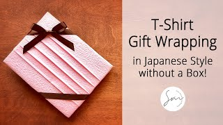 getlinkyoutube.com-Simple & Beautiful Gift Wrapping for T-Shirt and More!