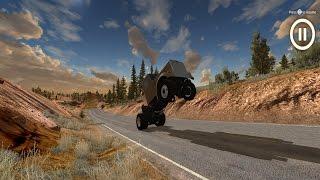 BeamNG. Drive: RoadKill Extra: Stubby Bob Wheelie Success