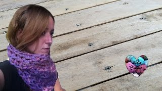 getlinkyoutube.com-Snood express crochet avec les doigts / cuello tejido con los dedos