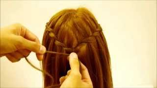 getlinkyoutube.com-【ウォーターフォールの簡単な作り方】ZENのHow to ヘアセット13How to make Waterfall braids easily.