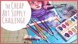 getlinkyoutube.com-The Cheap Art Supply Challenge!!