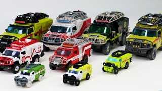 getlinkyoutube.com-Transformers Autobot Hummer H2 Ambulance Ratchet Truck 9 Vehicle Transformation Robot Car Toys