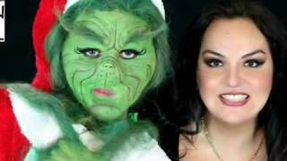 getlinkyoutube.com-Grinch make up