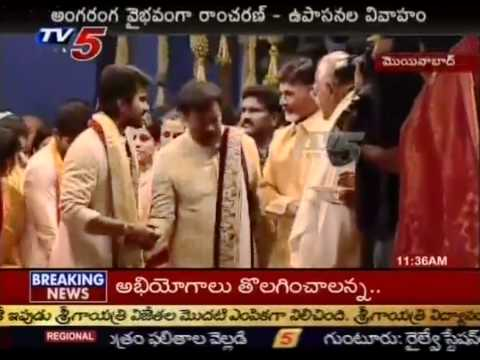 Ram Charan Ties the Knot With Upasana  Live (TV5)