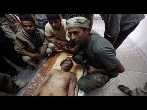 The last moments of Muammar Gaddafi