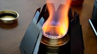 getlinkyoutube.com-ALOCS Alcohol burner と VARGOのヘキサゴン ウッド ストーブ