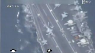 getlinkyoutube.com-Raw: Iran Says It Flew Drone Over US Carrier