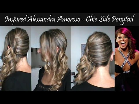Inspired Alessandra Amoroso concerto Verona - chic side ponytail Hairstyle tutorial
